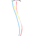 Kites On White - 3 by Rob Huntley