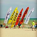 Kites Over Lake Michigan - Two Rivers Wi by Carol Toepke
