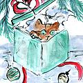 Kitten In A Shredded Present by Ellen Miffitt