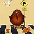 Kiwi Birds Crossing by Marlene Watson