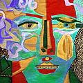 Klimt Face by Diane Fine