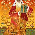 Klimt Santa by Carol Lawson