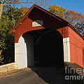 Knecht's Covered Bridge In October In Bucks County Pa by Anna Lisa Yoder