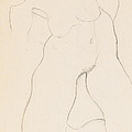 Kneeling Female Nude by Egon Schiele
