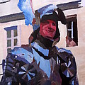 Knight In Full Armor During Parade by M Bleichner