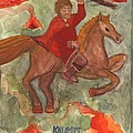 Knight Of Wands by Sushila Burgess