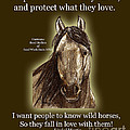 Know Wild Horses Poster-huricane by Linda L Martin