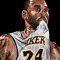 Kobe Bryant Biting Jersey by Israel Torres