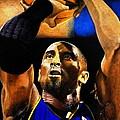 Kobe Bryant Drawing by Dan Troyer