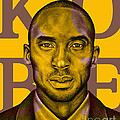 Kobe Bryant Lakers' Gold by Rabab Ali