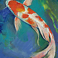 Kohaku Butterfly Koi by Michael Creese
