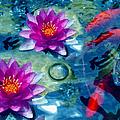 Koi And The Water Lilies by Georgiana Romanovna