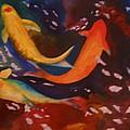 Koi In Deep Water by Judy Melcher