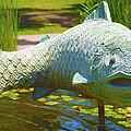 Koi Pond Fish Santa Barbara by Barbara Snyder