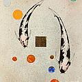 Koi Universe Utsuri Mono Painting by Gordon Lavender