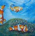 Koi's On The Reef by Bernadette Krupa