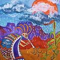 Kokopelli Bringing The Rains by Ellen Levinson