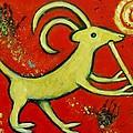 Kokopelli's Goat Tribal Trickster by Carol Suzanne Niebuhr