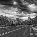 Kolob Canyon Black And White by Eddie Yerkish