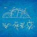 Komenda Vw Beetle Body Design Patent Art 1942 Blueprint by Ian Monk