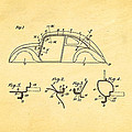 Komenda Vw Beetle Body Design Patent Art 1942 by Ian Monk