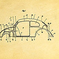Komenda Vw Beetle Body Design Patent Art 1944 by Ian Monk