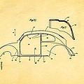 Komenda Vw Beetle Body Design Patent Art 2 1944 by Ian Monk