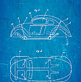 Komenda Vw Beetle Official German Design Patent Art Blueprint by Ian Monk