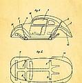 Komenda Vw Beetle Official German Design Patent Art by Ian Monk
