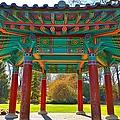 Korean Pavilion At Vandusen Botanical Garden by David Oberman