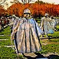 Korean War Veterans Memorial Sunset by Bob and Nadine Johnston