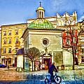 Krakow Main Square Old Town  by Justyna JBJart