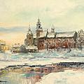 Krakow - Wawel Castle Winter by Luke Karcz