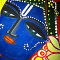 Krishna Folk Art  by Madhuri Krishna