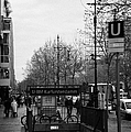 Kufurstendamm U-bahn Station Entrance Berlin Germany by Joe Fox