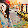 Kuralai Is Waiting. Bangkok Sunset. by Natalia Baykalova