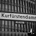 Kurfurstendamm Street Sign Berlin Germany by Joe Fox