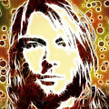 Kurt Cobain Digital Painting by Georgeta Blanaru