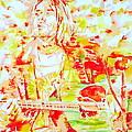 Kurt Cobain Live Concert - Watercolor Portrait by Fabrizio Cassetta