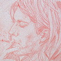 Kurt Cobain Smoking-pencil Portrait by Fabrizio Cassetta