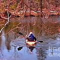 Kyaking On A Lake In Spring by John Malone