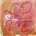 L O V E Script With Heart by Paulette B Wright