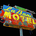 La Bank Motel - Black by Larry Hunter
