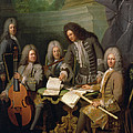 La Barre And Other Musicians, C.1710 Oil On Canvas by Andre Bouys