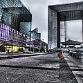 La Defense In The Rain by Evie Carrier
