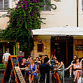 La Dolce Vita At A Cafe In Italy by Greg Matchick