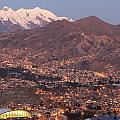 La Paz Skyline At Sundown by Tom Broadhurst