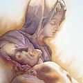 La Pieta By Michelangelo by J  - O   N    E