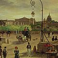 La Place De La Concorde by Giuseppe Canella