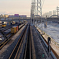 La River And Rr by Rene Sheret